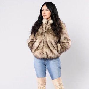 Fernanda Fur Coat- Natural